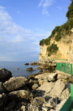 Väg till stranden Mogren i Montenegro Fotografering för Bildbyråer