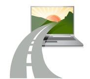 Väg till teknologi Arkivbilder