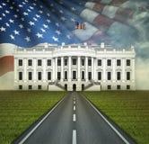 Väg till Vita Huset Arkivfoto