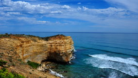 väg tolv för apostelAustralien stor hav Fotografering för Bildbyråer