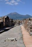 Vägans-hus, Pompeii arkeologisk plats, nr Mount Vesuvius, Italien Arkivfoto