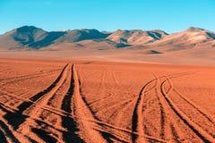 Vägar av den Altiplano öknen Royaltyfri Fotografi