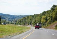 Vägar för berg för Pennsylvania statcatskills Arkivbild