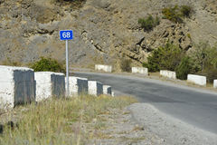 Vägarna av Crimea royaltyfri fotografi