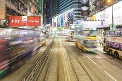 Vägbankfjärden rusar i den Hong Kong ön Arkivbilder