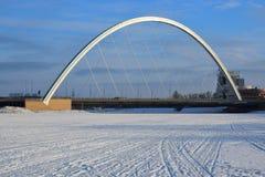 Vägbro i Astana/Kasakhstan Arkivbild