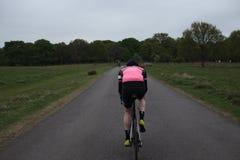 Vägcyklist royaltyfria foton