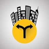 Vägdesign, gata och vägmärkebegrepp, redigerbar vektor Royaltyfri Bild
