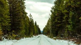 Vägen är iskall och förrädisk Arkivfoton