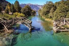 Vägen av de sju sjöarna, Patagonia, Argentina Royaltyfria Bilder