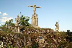 Vägen av Jesus Christ: döden av Jesus på korset Fotografering för Bildbyråer