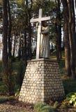 Vägen av Jesus Christ: Jesus tar korset, innan han klättrar Arkivfoto