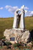 Vägen av Jesus Christ: Veronica torkar svetten från forehen Royaltyfria Bilder