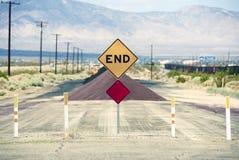 Vägen avslutar Arkivfoto
