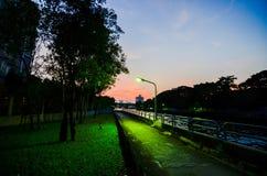 vägen bredvid kanalen Royaltyfria Bilder
