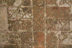 Vägen från de gamla tegelstenarna Arkivbild