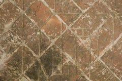 Vägen från de gamla tegelstenarna Royaltyfria Foton