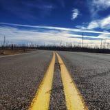 vägen löpte Fotografering för Bildbyråer