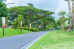 Vägen parkerar in Arkivbild