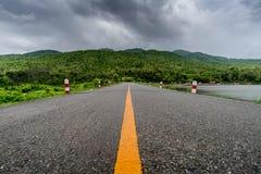Vägen parkerar in Arkivfoto
