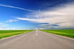 Vägen sätter in in Arkivfoto