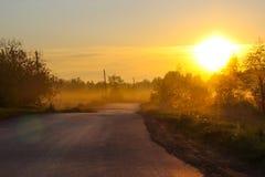 Vägen som gryr Arkivfoto