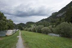 Vägen till den Aare klyftan Arkivbild
