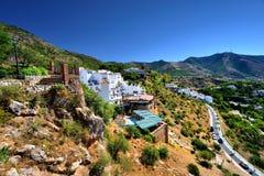 Vägen in till Mijas Spanien Arkivfoto