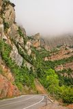 Vägen till och med Montserrat National parkerar Royaltyfri Foto