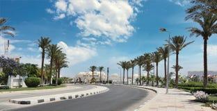 Vägen till Sharm el-Sheikh, Dahab, Sinai halvö, Egypten Arkivbilder