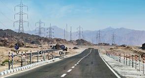 Vägen till Sharm el-Sheikh, Dahab, Sinai halvö, Egypten Arkivfoto