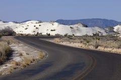 Vägen till vit sandpapprar nytt - Mexiko Arkivfoto