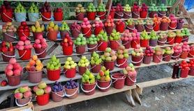 Vägfruktmarknad, Azerbajdzjan Royaltyfria Foton