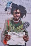 Vägg Art With ett meddelande i Detroit Royaltyfria Bilder