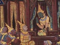 Vägg Art Thailand Culture Fotografering för Bildbyråer