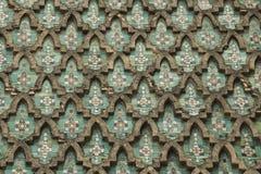 Vägg av Bab el Mansour i Meknes royaltyfri bild