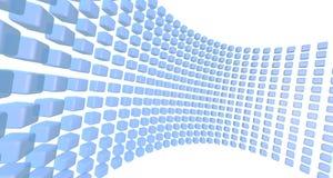 Vägg av blåa kuber Arkivfoto