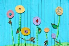 Vägg av blommor Royaltyfria Bilder