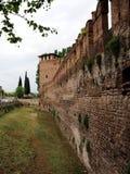 Vägg av Castelvecchioen i Verona Royaltyfri Bild