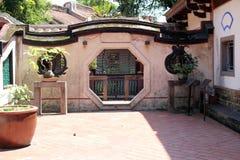 Vägg av den Ben-Yuan Lin familjträdgården i Taipei, Taiwan Royaltyfri Bild