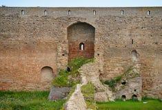 Vägg av den Ivangorod fästningen Royaltyfri Fotografi