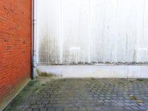 vägg av ett hus, brickwall, detalj Royaltyfri Bild