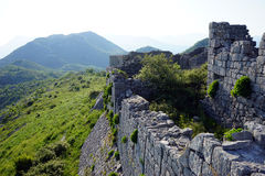 Vägg av fästningen Arkivfoton