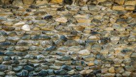 Vägg av flodstenar Royaltyfri Bild