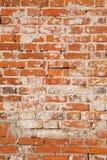 Vägg av gammal röd tegelsten Kan användas som bakgrund eller textur royaltyfri foto