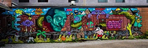 Vägg av grafitti Royaltyfria Foton