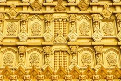 Vägg av guld- Bodhgaya modeller arkivfoton