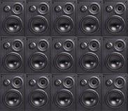 Vägg av högtalare arkivbilder
