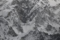 Vägg av Kongma Tse (Mehra Peak) 5849m Dalar av Khumbu nepal Royaltyfri Bild