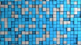 Vägg av kuber Arkivbild